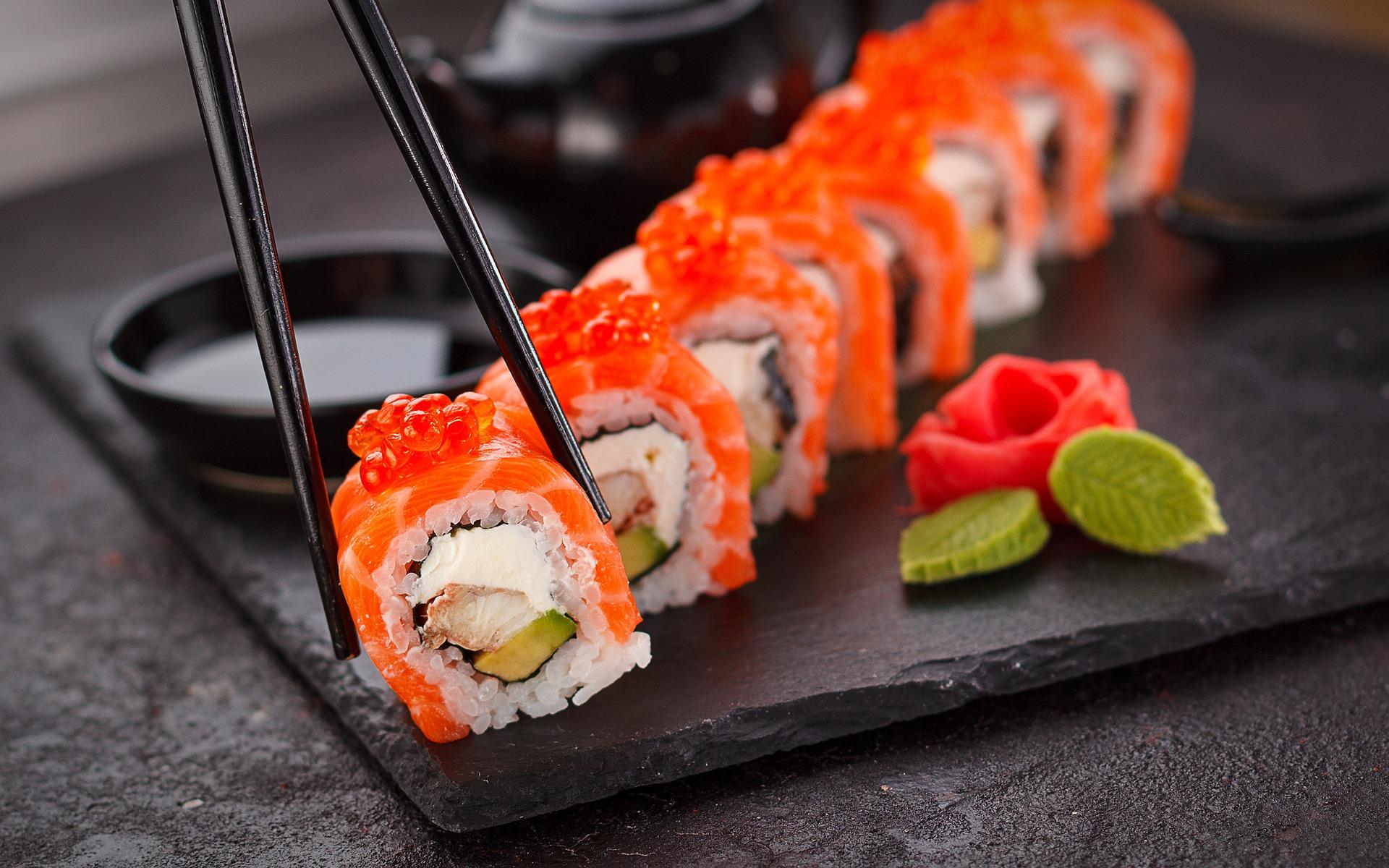 Sushi  som  mat